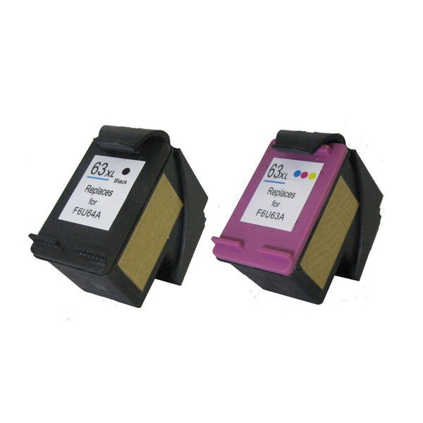2PK Compatible F6U63AN F6U64AN (HP 63XL) 1Set Ink Cartridge For HP DeskJet 1110 All-in-One DeskJet 1112 ( Pack of 2 )