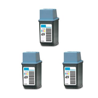 3PK Compatible HP 51649 (HP 49) Ink Cartridge For HP DeskJet 690C 694C 695C 697C ( Pack of 3 )