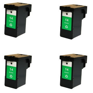 4PK Compatible 18C2090 (#14) Ink Cartridge For Lexmark X2600 X2650 ( Pack of 4 )
