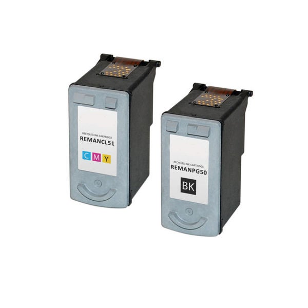 2PK Compatible PG-50 Black CL-51 Color Ink Cartridge For Canon PIXMA MP150 160 170 ( Pack of 2 )