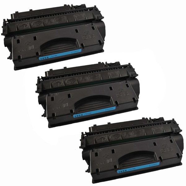 3PK Compatible CF280X Black Toner Cartridge For HP LaserJet Pro 400 M401dn LaserJet Pro 400 M425dn (Pack of 3)