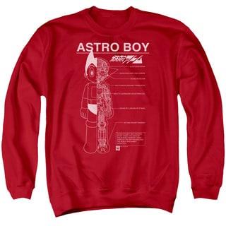 Astro Boy/Schematics Adult Crew Sweat in Red