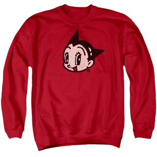 Astro Boy/Face Adult Crew Sweat in Red