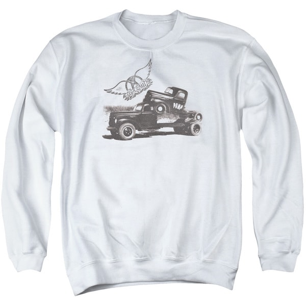 Aerosmith/Pump Adult Crew Sweat in White