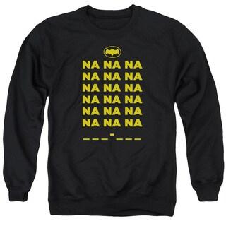 Batman Classic Tv/Na Na Na Adult Crew Sweat in Black
