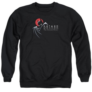 Batman The Animated Series/Silhouette Logo Adult Crew Sweat in Black