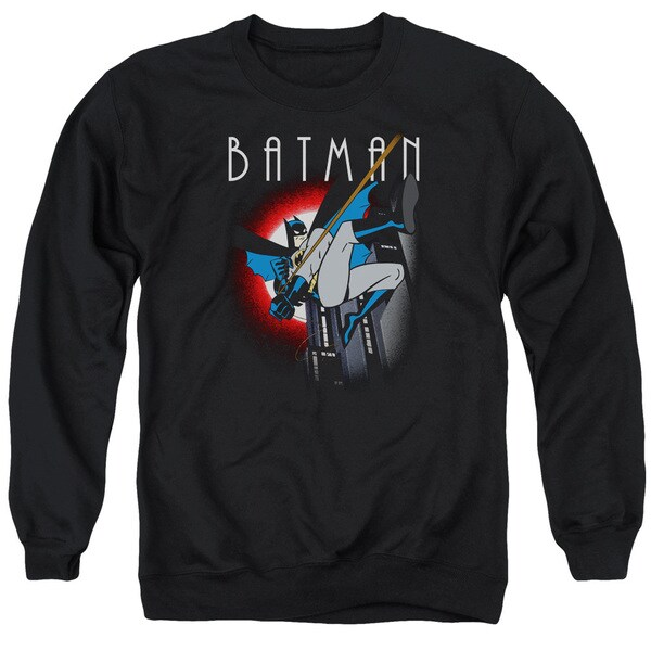 Batman The Animated Series/Moonlight Adult Crew Sweat in Black