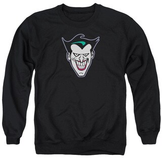 Batman The Animated Series/Joker Face Adult Crew Sweat in Black
