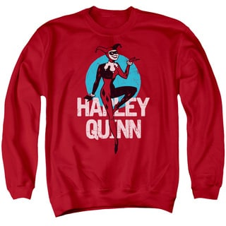 Batman The Animated Series/Smooth Adult Crew Sweat in Red