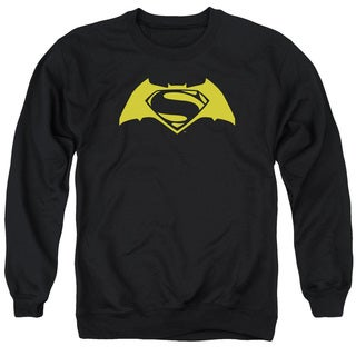 Batman V Superman/Simple Logo Adult Crew Sweat in Black