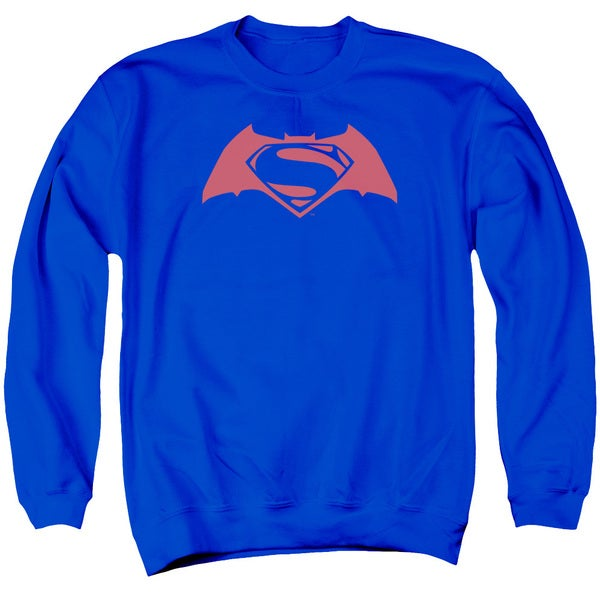 Batman V Superman/Simple Logo Adult Crew Sweat in Royal