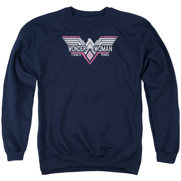 Batman V Superman/Thunder Logo Adult Crew Sweat in Navy