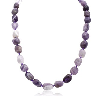 30ct Natural Amethyst Beaded 18-inch Necklace