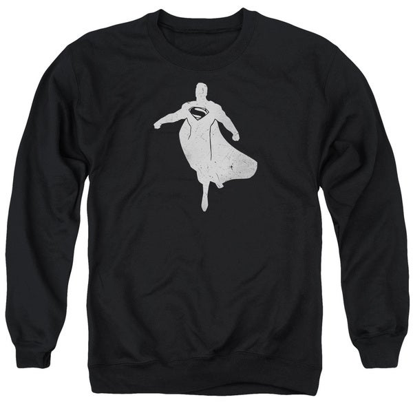 Batman V Superman/Superman Silhouette Adult Crew Sweat in Black