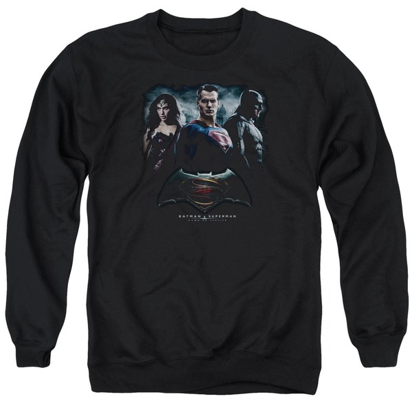 Batman V Superman/The Crew Adult Crew Sweat in Black