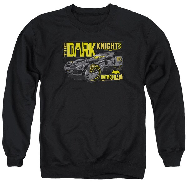 Batman V Superman/Mobile Dark Knight Adult Crew Sweat in Black