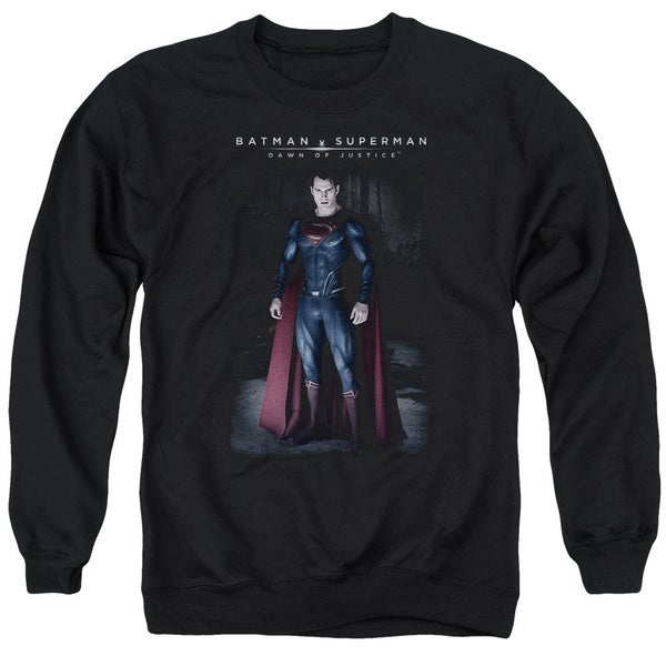 Batman V Superman/Stand Tall Adult Crew Sweat in Black