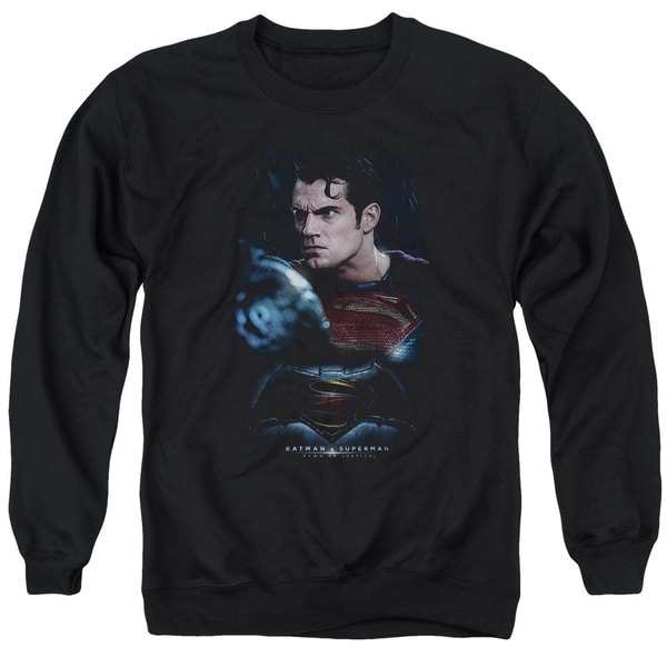 Batman V Superman/Super Angry Adult Crew Sweat in Black