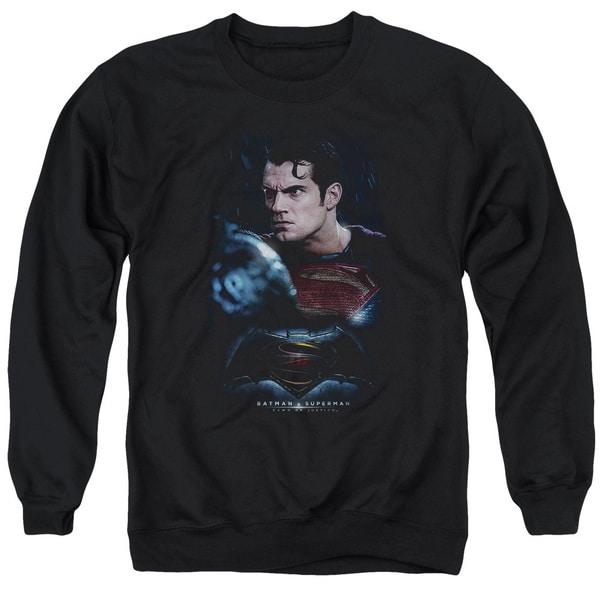 Batman V Superman/Super Angry Adult Crew Sweat in Black