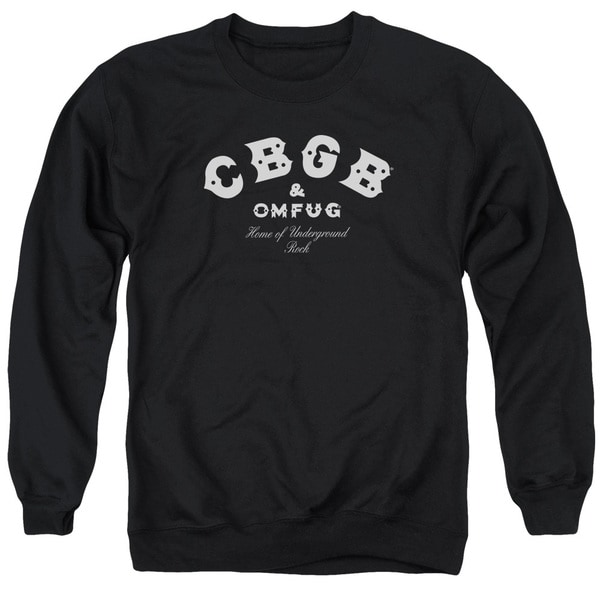 Cbgb/Classic Logo Adult Crew Sweat in Black