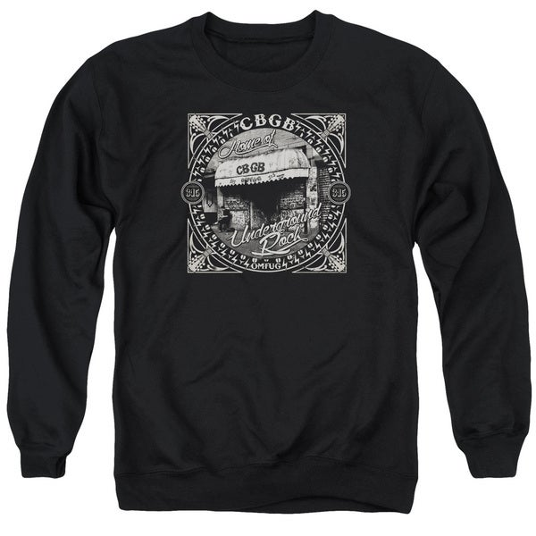 Cbgb/Front Door Adult Crew Sweat in Black