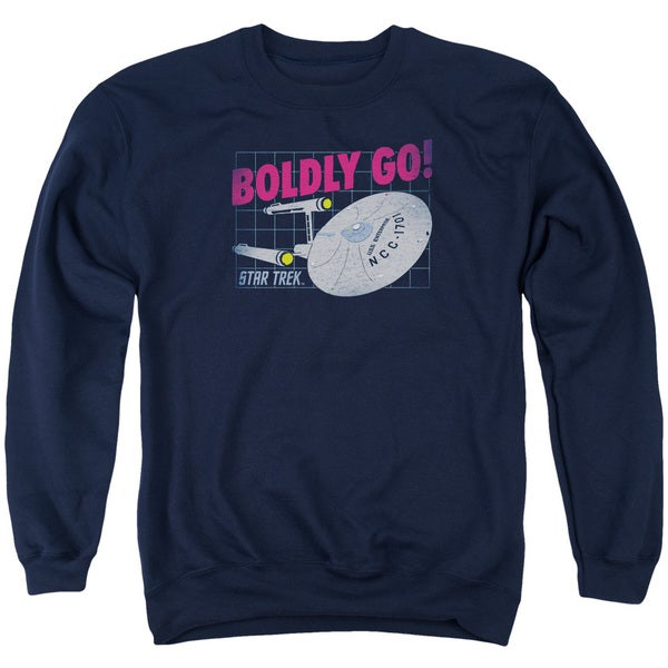 Star Trek/Boldly Go Adult Crew Sweat in Navy