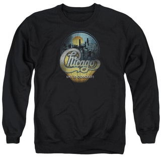 Chicago/Live Adult Crew Sweat in Black
