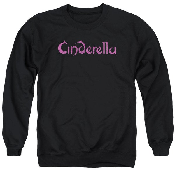 Cinderella/Logo Rough Adult Crew Sweat in Black