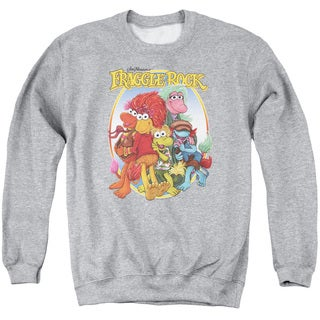 Fraggle Rock/Group Hug Adult Crew Sweat in Athletic Heather