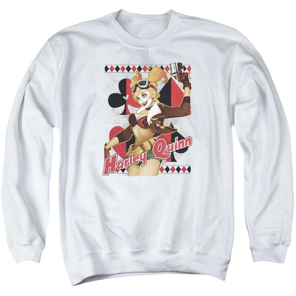 JLA/Harley Bombshetll Adult Crew Sweat in White