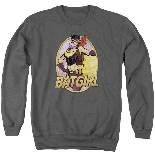 JLA/Batgirl Bombshell Adult Crew Sweat in Charcoal