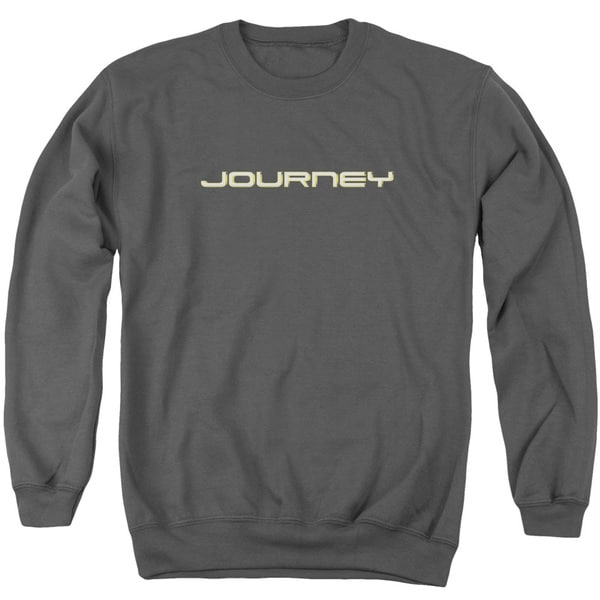 Journey/Logo Adult Crew Sweat in Charcoal