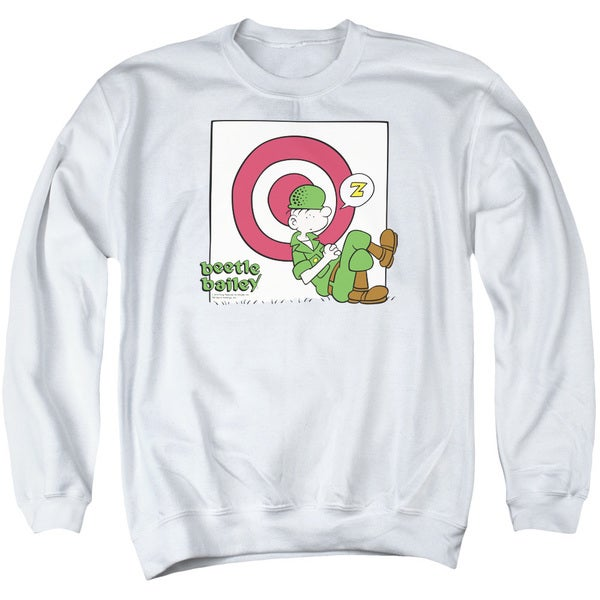 Beetle Bailey/Target Nap Adult Crew Sweat in White