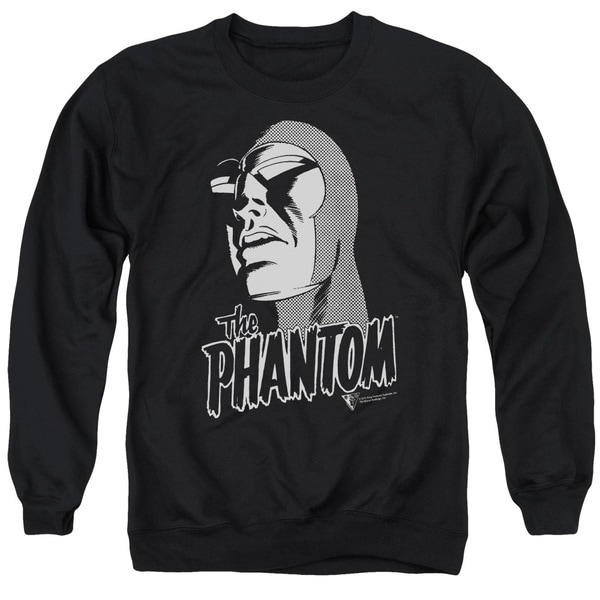 Phantom/Inked Adult Crew Sweat in Black