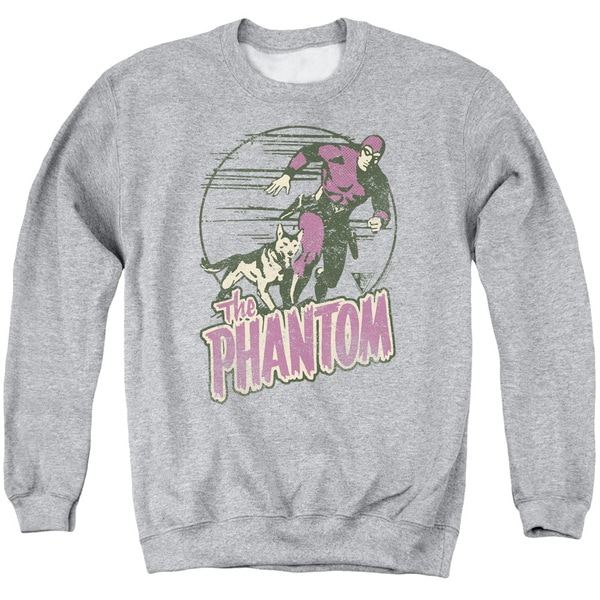 Phantom/Phantom and Dog Adult Crew Sweat in Athletic Heather