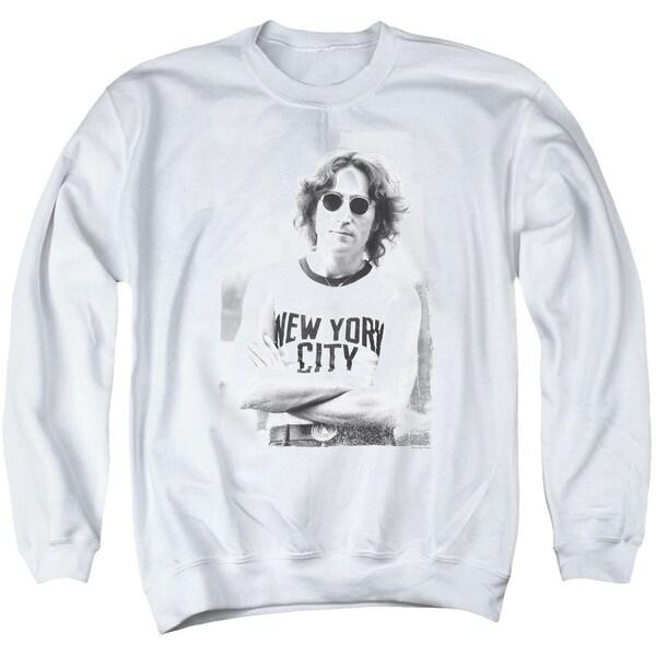 John Lennon/New York Adult Crew Sweat in White