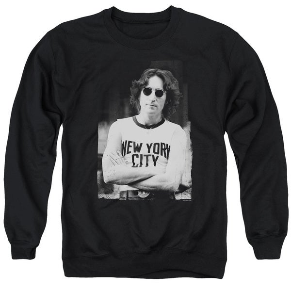 John Lennon/New York Adult Crew Sweat in Black