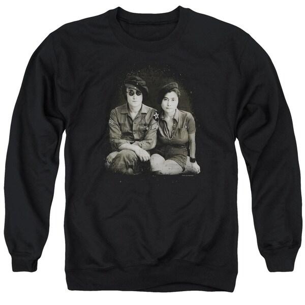John Lennon/Beret Adult Crew Sweat in Black