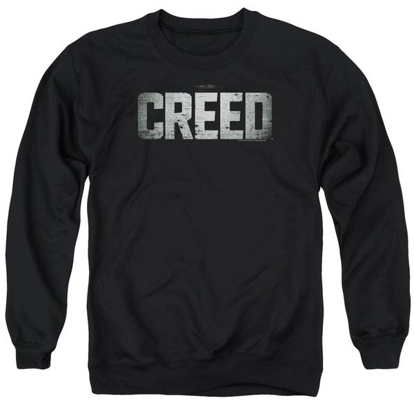 Creed/Logo Adult Crew Sweat in Black