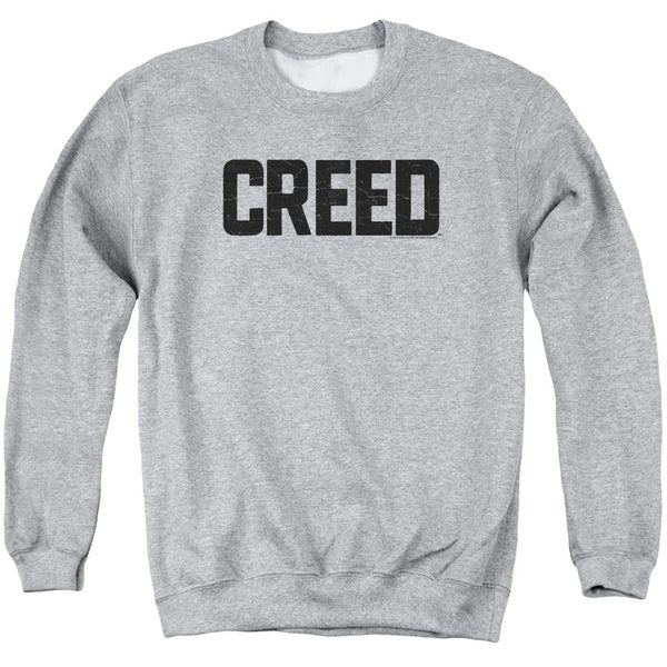 Creed/Cracked Logo Adult Crew Sweat in Athletic Heather