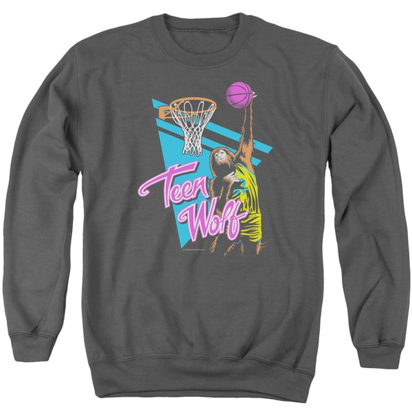 Teen Wolf/Slam Dunk Adult Crew Sweat in Charcoal