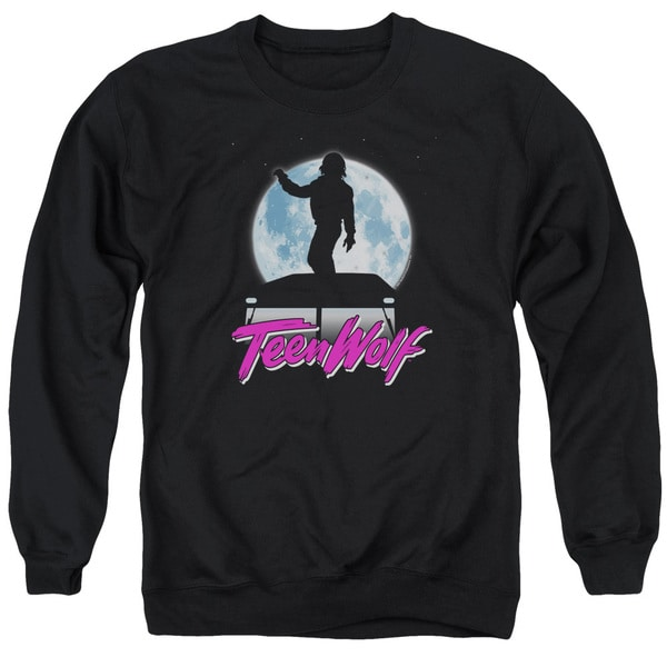 Teen Wolf/Moonlight Surf Adult Crew Sweat in Black