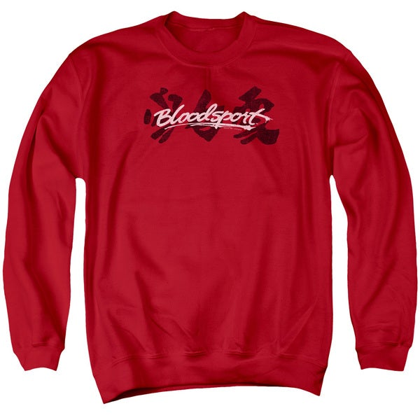 Bloodsport/Kanji Adult Crew Sweat in Red