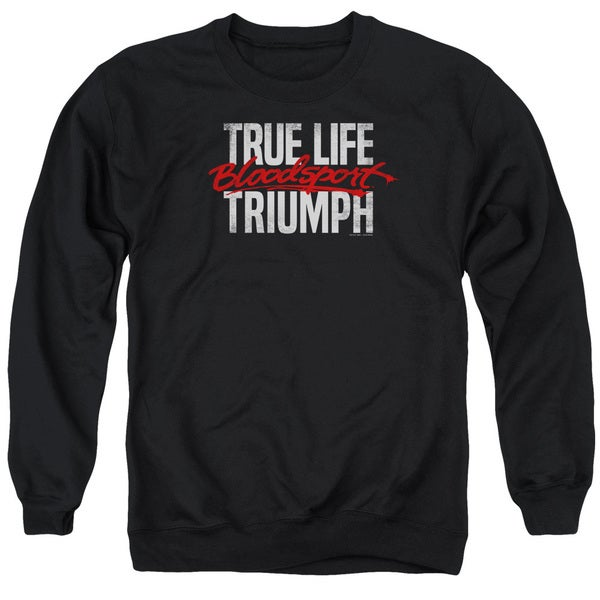 Bloodsport/True Story Adult Crew Sweat in Black
