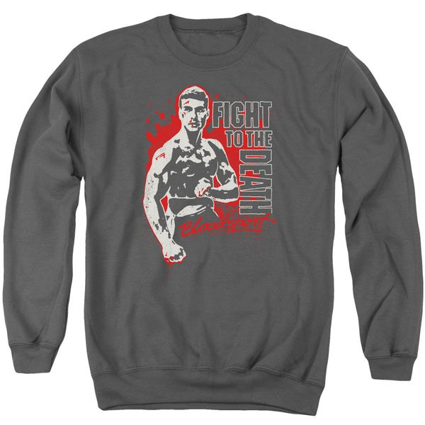 Bloodsport/To The Death Adult Crew Sweat in Charcoal
