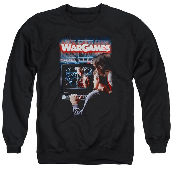 Wargames/Poster Adult Crew Sweat in Black