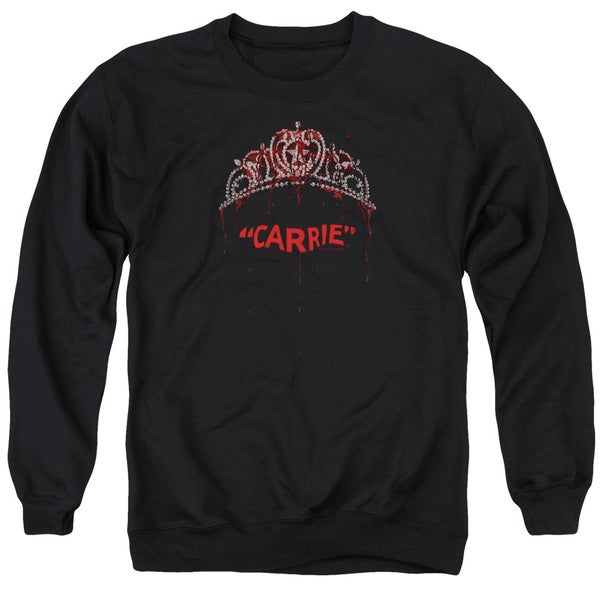 Carrie/Prom Queen Adult Crew Sweat in Black