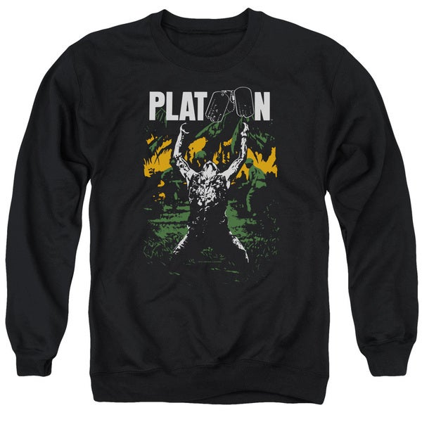 Platoon/Graphic Adult Crew Sweat in Black