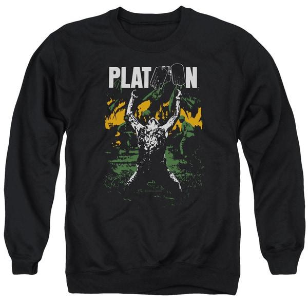 Platoon/Graphic Adult Crew Sweat in Black
