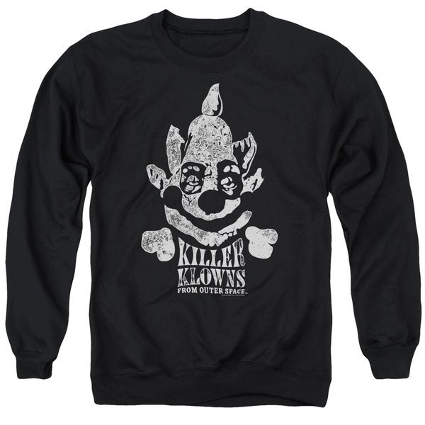 Killer Klowns From Outer Space/Kreepy Adult Crew Sweat in Black